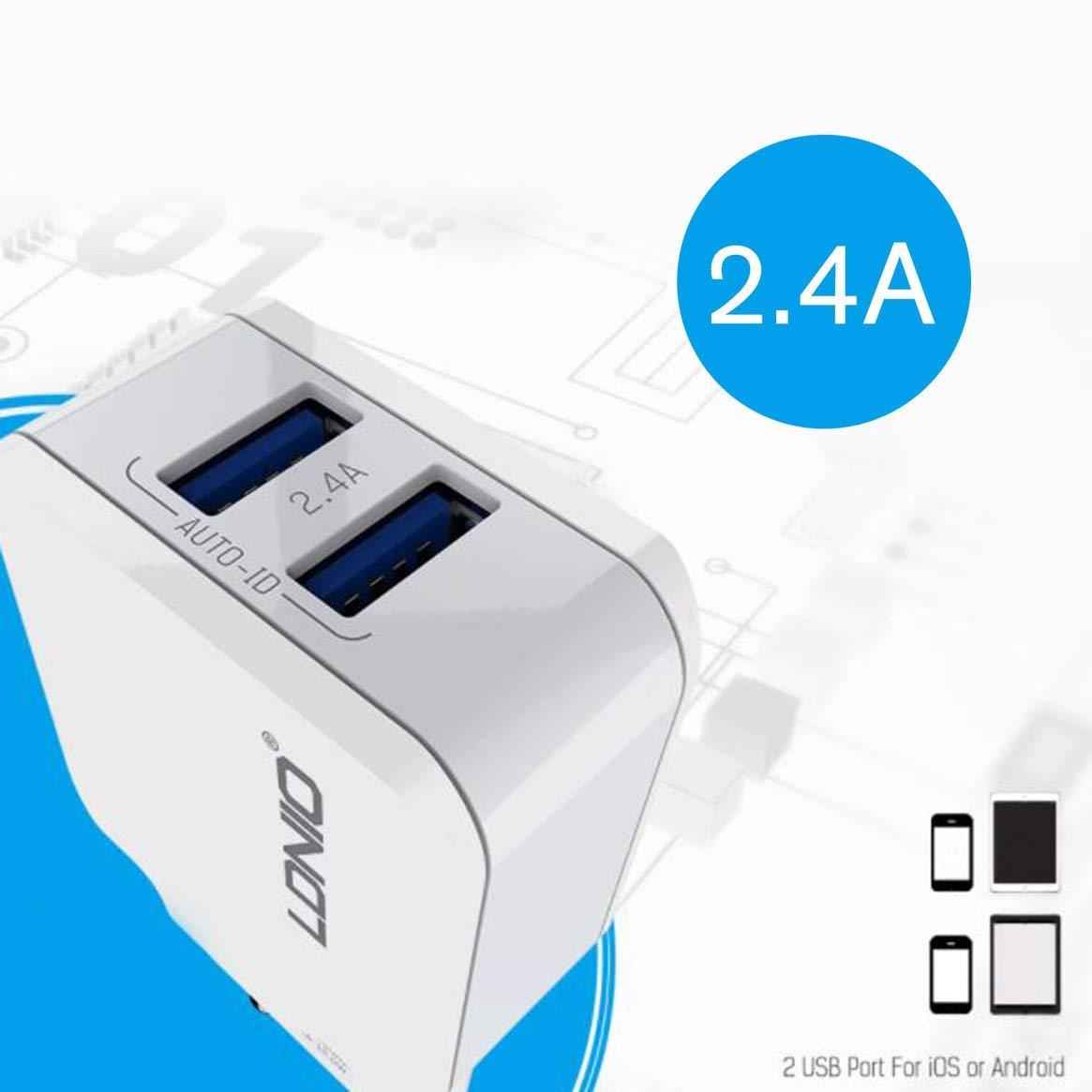 1c909cb77b8 Caricabatterie per auto Blanco Delicacydex A4403 Cuatro puertos USB cargador  de cabeza rápida 4.4A Cargador ...