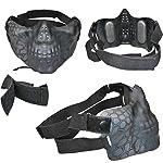 QZY Tactical Airsoft Casque Balistique - Double Straps Half Face Skull Mask - Lunettes, Armée Militaire Rapide PJ Casque… 10