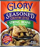GLORY FOODS BEAN STRING & PTO SSNNG 27OZ