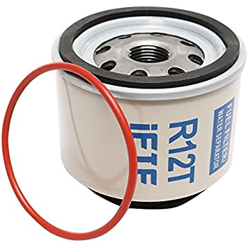iFJF Automotive Replacement Filter of R12T Fuel Filter/Water Separator 120AT NPT ZG1/4-19 fit Diesel Engine