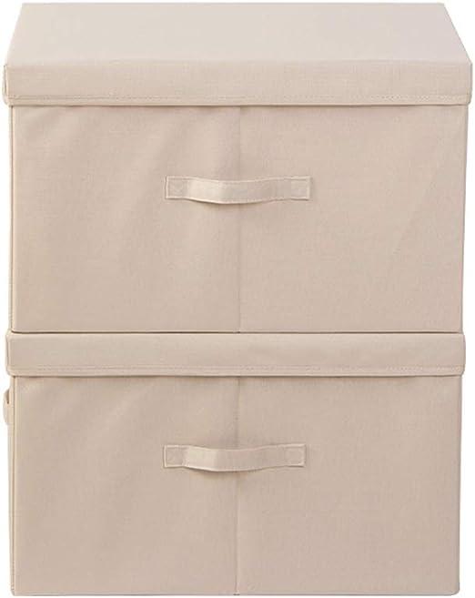 IVNZEI Caja de almacenamiento con asa de tela fuerte – Extra ...