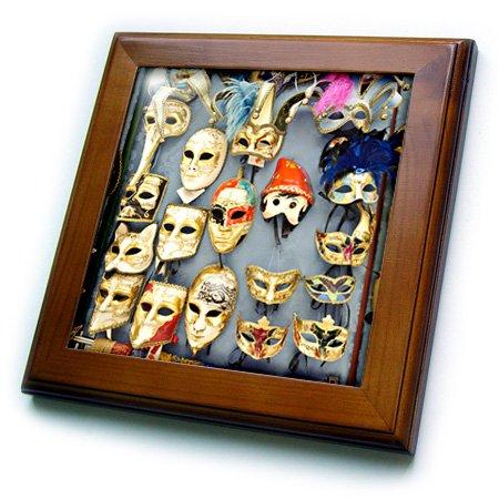 Ceramic Wall Mask (3dRose ft_82171_1 Italy, Venice, Burano, Venetian Carnival Masks EU16 Rdu0163 Richard Duval Framed Tile, 8 by 8-Inch)