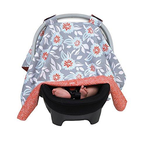 - Balboa Baby Reversible Car Seat Canopy - Grey Dahlia