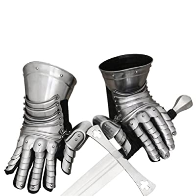 Armor Venue Men's Medieval Knight Gauntlet Pair