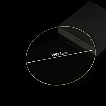 Placa de cristal de borosilicato redondo de 120 mm x 3 mm para ...