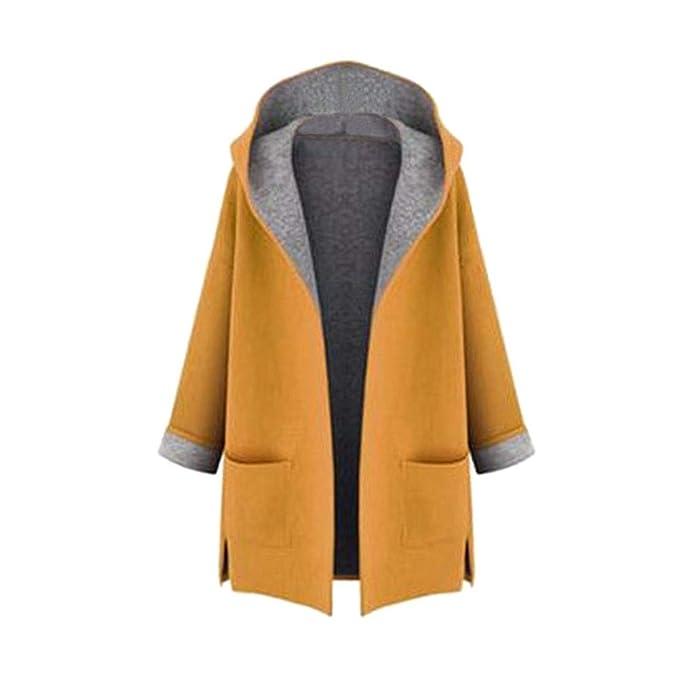 Fuyingda Mujeres Invierno Plus Size Chaquetas Abrigos Chaquetas Señoras Parka Outwear Overcoat: Amazon.es: Ropa y accesorios
