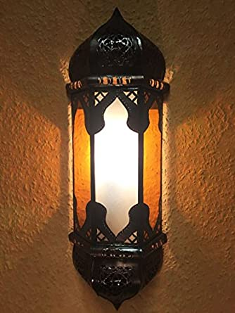 Applique Murale Style Oriental Marrakech Orange Blanc Amazon Fr