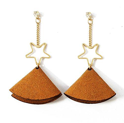 MTC Jewels Earrings Tassel Drop Leather Lucky Star Earring for Women Lucky Star Jewels