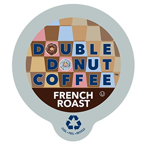 Double Donut French Roast Coffee, in Recyclable Single Serve Cups for Keurig K-Cup Brewers, 24 - French Shops In
