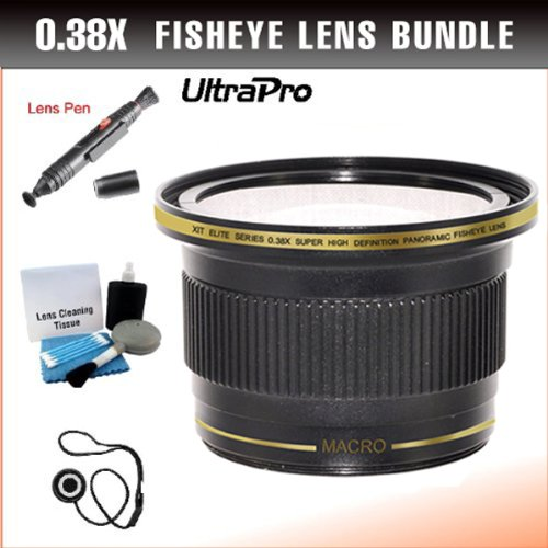37mm 0.38x High Definition Fisheye Lens with Macro...