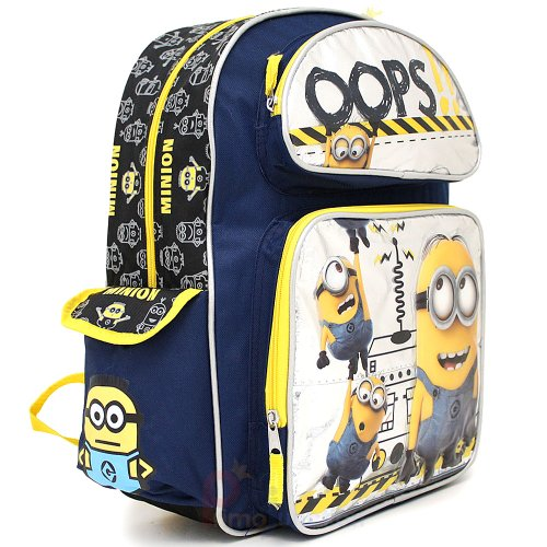 Amazon.com | Despicable Me 2 Minions Large School Backpack 16 ...