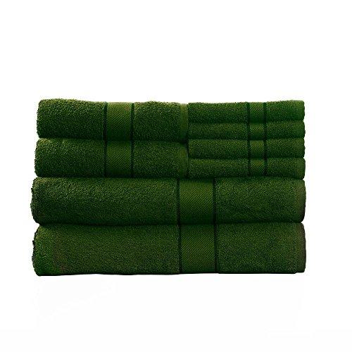 cotton-bath-towel-set-8-piece-green