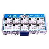 BOJACK 10 Values 250 Pcs A1015 BC327 BC337 C1815
