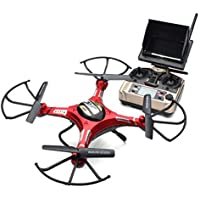 Celendi JJRC H8D 4 Channel 6-Axis Gyro 5.8G FPV RC Quadcopter With HD Camera Monitor + 2PCS Spare Motor