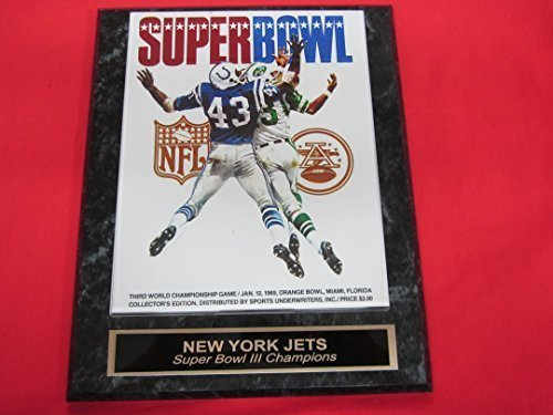 New York Jets Super Bowl III Champions Engraved Collector Plaque #2 w/8x10 Photo ()