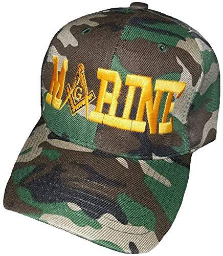 MARINES MARINE Camouflage Masonic Baseball Cap Camo Hat Mason Lodge