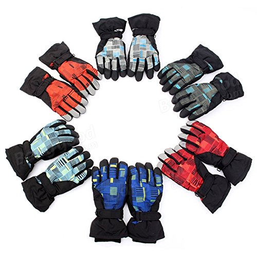 Winter Bicycle Bike Cycling Skiing Snowboard Full Finger Gloves ( Green )