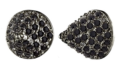 EDDIE BORGO Pave Small Cone Gunmetal Stud Earrings, used for sale  Delivered anywhere in USA