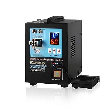 KKmoon Spot Automático Big Power Modo dual 1200A Corriente de Pulso Móvil Soldadura de Pulso Pluma Máquina de Soldadura por Puntos SUNKKO 737G +: Amazon.es: ...