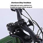 NENGGE-26-Pollici-Donna-Mountain-Bike-Fat-Bike-da-Montagna-Bicicletta-Hardtail-Telaio-in-Acciaio-ad-Alto-Tenore-di-CarbonioVerde21-Speed