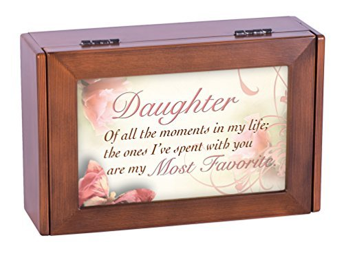 Daughter All the Moments Wood Grain Digital Music Jewelry Box Plays Song My Wish by Rascal Flatts