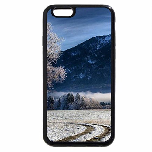 iPhone 6S / iPhone 6 Case (Black) farm at the foot of bavarian mountains in winter