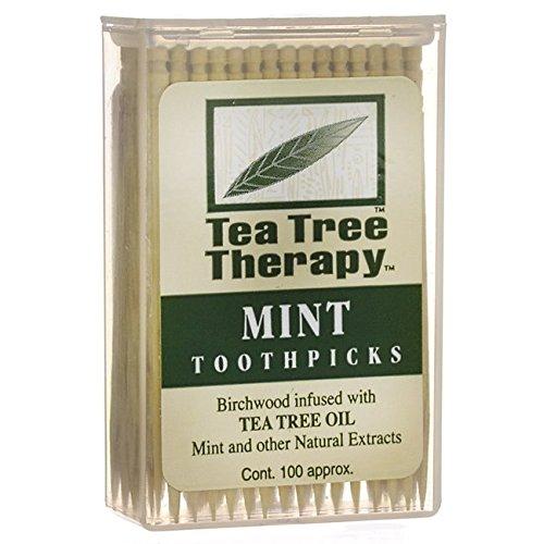 Tea Tree Therapy - Tea Tree & Menthol Toothpicks (100 count)