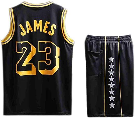 YWZQ Camiseta de Baloncesto de los Hombres, para niños de los Muchachos de la NBA Lakers # 23 Tops Baloncesto Swingman Jersey Deportes,Negro,LKids: Amazon.es: Hogar