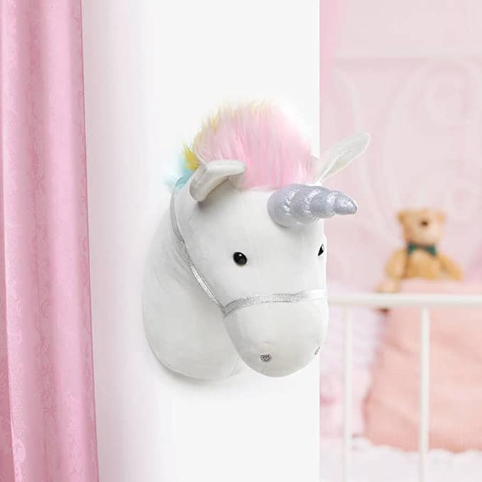 Amazon.com: GUND Unicornio cabeza de felpa relleno animal ...