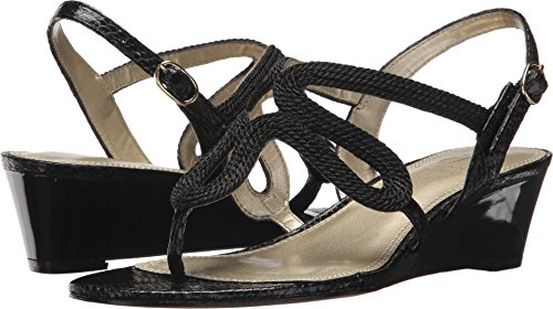Adrianna Papell Women's Cannes Black Rope 8.5 M US