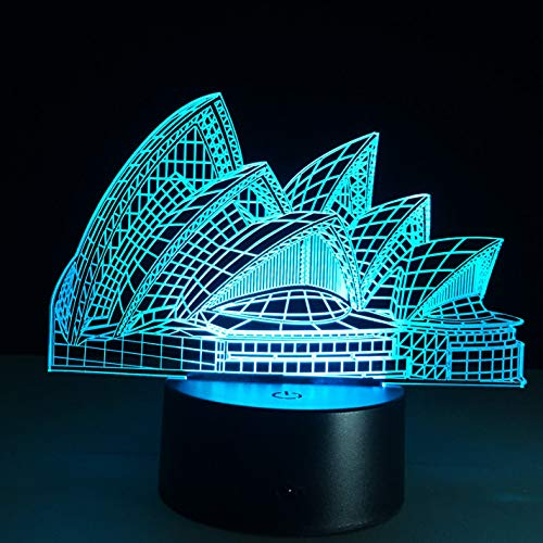 3D Nachtlichter 3D Farbwechsel Nachtlicht Indoor 3D Nachtlampe Australien LED Lampe USB Neuheit Licht f/ür Geschenke