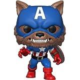 Funko Pop! Marvel: Year of The Shield - Capwolf, Amazon Funkon Exclusive