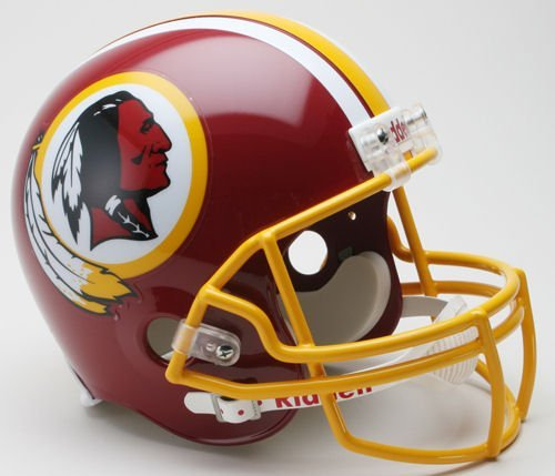 (NFL Washington Redskins Helmet Full Size Replica, One Size, Team Color)