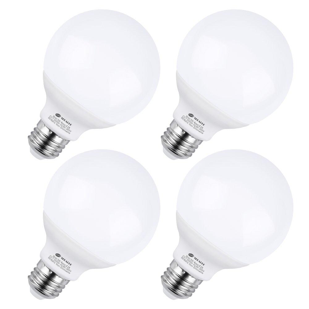 G25 e26 led bulbs 5 watt vanity light bulbs g25 50w incandescent globe bulbs equivalent 5000k daylight white makeup led light bulbs medium e26 base