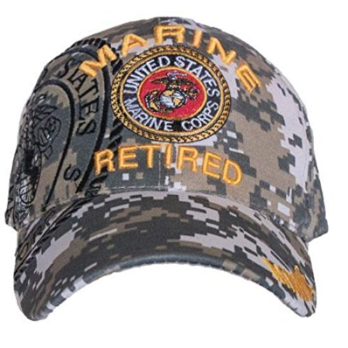 197a54bbcd1 Image Unavailable. Image not available for. Color  ACU Digital Camo USMC  Marines Marine Retired Veteran Baseball Hat Cap