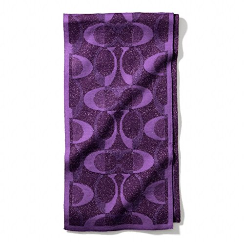 Coach Signature C~Violet Metallic purple~Tonal Dream Knit Scarf~83834 by Coach
