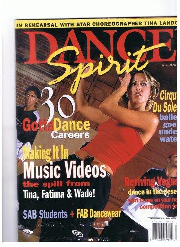 Dance Spirit Magazine March 2000 Making It In Music Videos, Star Choreographer Tina Landon, Cirque Du Soleil- Ballet Goes Under Water, Reviving Vegas