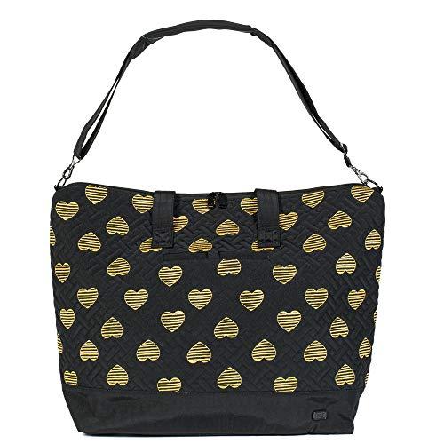 (Lug Women's Aerial Tote, Hearts Black Shoulder Bag, One)