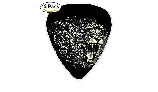SEGTAR Púas de guitarra de león (0,46 mm, 0,71 mm, 0,96 mm, para guitarras eléctricas, acústicas, finas, medianas, bajos, mejor calcetín de regalos): ...