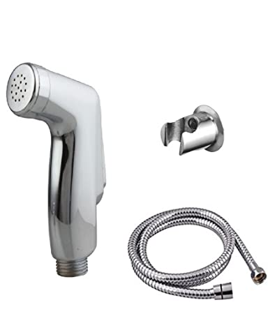 10X Health Faucet Premium Range Star With Stainless Steel Tube & Hook    Bathroom Accessories    Hand Faucet    Hand Shower    Bathroom Faucet    Spray Gun   Water Tap    Jet Spray    Bathroom Accessories    Taps and Faucets    Toilet Shower   