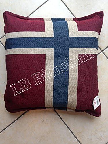 Lovely Home Federa con Zip Cuscino arredo Flag Bandiera Norvegia cm 42x42 Imbottitura