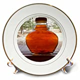3dRose TDSwhite – Miscellaneous Photography - Maple Syrup Bottle Windowsill - 8 inch Porcelain Plate (cp_285357_1)
