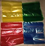 Colored Zipper Sandwich Bags Red Blue Yellow Green 80 Count