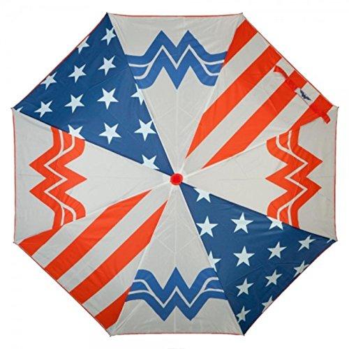 DC Comics WONDER WOMAN Panel Logo Compact Folding - Woman Wonder Umbrella