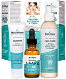 Weleda Skin Food Cvs - NutraNuva Face Food Natural Skin Care – Stop-the-Clock! Beauty Gift Set - Anti Aging Anti Wrinkle Moisturizer + Anti Aging Serum Complex with 20% C + All-in-One Cleanser, Exfoliator & Toner (3 Items)