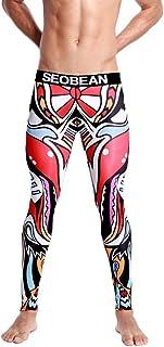 Emubody Men Print Cotton Breathable Sport Leggings Thermal Long Underwear Pants Emubody01