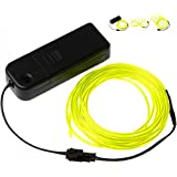 OOOUSE Neon Glowing Electroluminescent Wire (El Wire) with Battery Pack Controller (Bright Green,3M)
