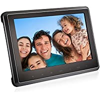 LESHP Car Headrest Dvd Player, Headrest Monitor with 10.1 inch Ultra-thin HD 1080P Digital TFT Screen Design USB port/SD/MMC/HDMI Port