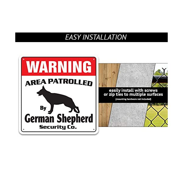 Alaskan Malamute Security Sign Area Patrolled pet Warning Veterinary Assistant 3