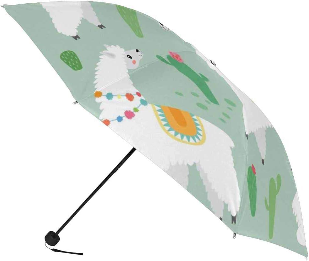 InterestPrint Custom Universe Spaceman Anti Sun UV Foldable Travel Compact Umbrella